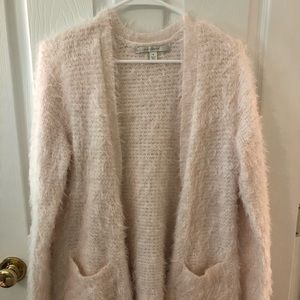 Light pink Lauren Conrad fluffy long cardigan
